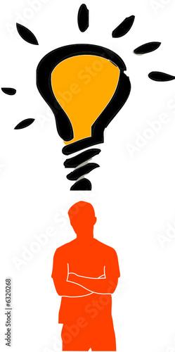 Mann mit Idee, Kreativität