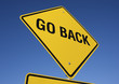 Go Back road sign