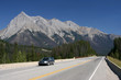 Yoho National Park of Canada - moving car speed blur