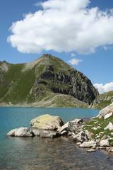 water of highest in Europe lake Murudjinskoe.