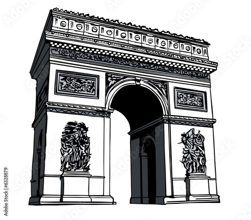 France, paris: Arc de triomphe