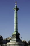 France, Paris: the  column of bastille square poster