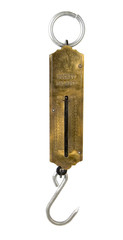 Pocket brass spring weighing scale