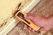 Test du taux d'humidité d'une cloison - 6330833