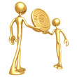 Holding Gold Euro Coin