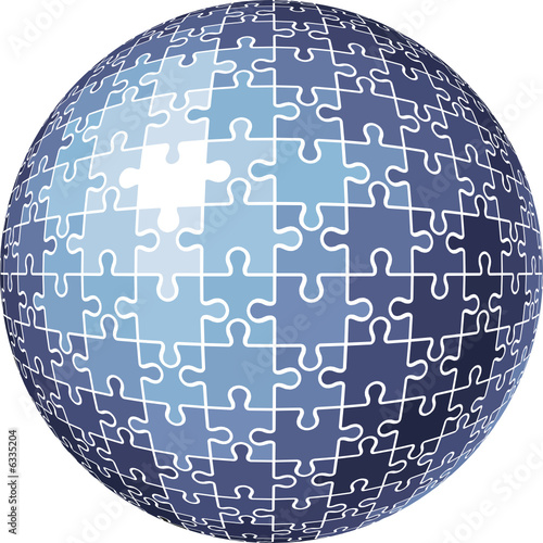 puzzle sphere / vector illustration