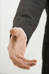 a businessman hand