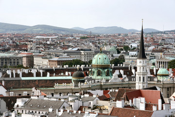 Panorama of Vienna - cityscape of Austrian capital city.