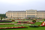 Vienna - Schonbrunn palace. Famous landmark and its gardens. poster