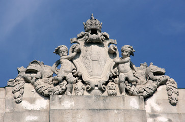 Detail of Hofburg palace in Vienna (Austria).