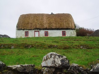 Thatched roof cottage, Aran Islands, Ireland