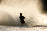 Barefoot water skier poster