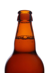 close up view of opened beer bottle