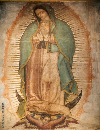 Guadalupe Painting 1531 Revelation Guadalupe Shrine Mexico - 6343006