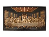 A Cast Iron Plaque Depicting the Last Supper. poster