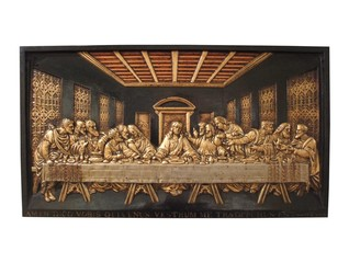 A Cast Iron Plaque Depicting the Last Supper.