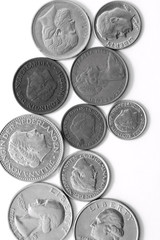 Silver coins with portrets