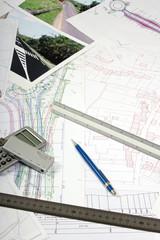 Plan aménagement du territoire - échangeur autoroute