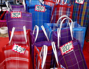 Mexican market bags (bolas)