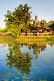 Wat Mahathat temple, Sukhothai. poster