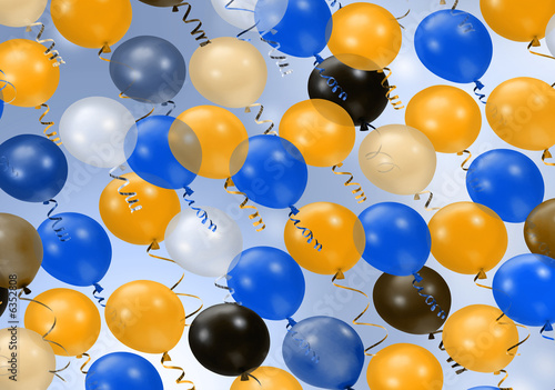Background of various colorful party balloons