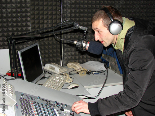Dj  in the studio