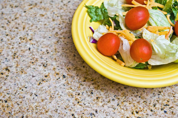Salad Plate on Granite Countertop