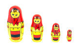 Russian nested dolls known as matryoshka poster