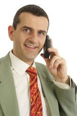 Homme d'affaires au téléphone