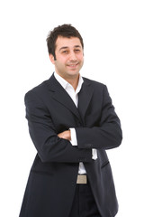 young and happy businessman portrait