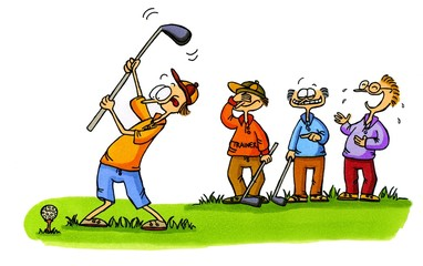Golf Cartoons Serie Bild 1