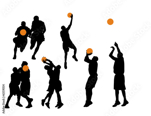 basketball player silhouette. Basketball Vector Silhouettes