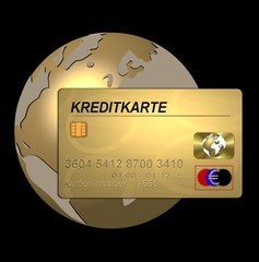 goldene kreditkarte - weltweit