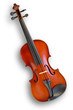 Musical instruments: violin - with clipping path