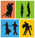 Dancers of American Latin dances poster