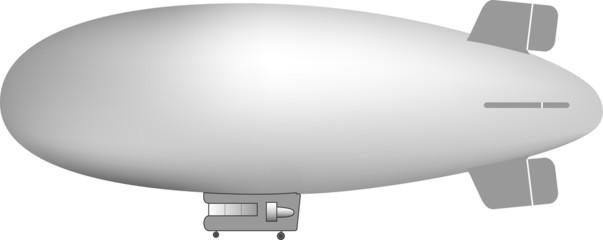 gray blimp illustration