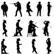 cowboy and cowgirl silhouettes