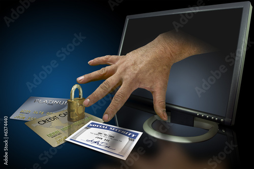 Identity theft on the web with credit cards and social security - 6374440