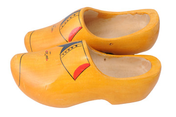 Old wooden shoes