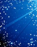 Glittering night sky poster