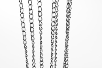 chain links on the white background