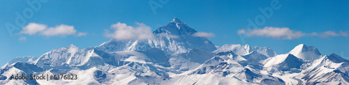 Aluminium Bergen Mount Everest, view from Tibet