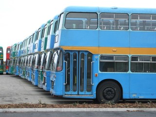A Collection of Double Decker Buses.