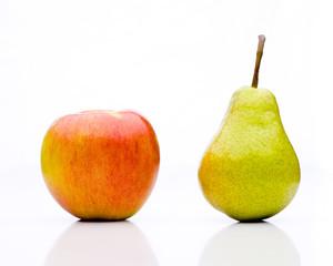 Äpfel mit Birnen vergleichen - die Gegenüberstellung
