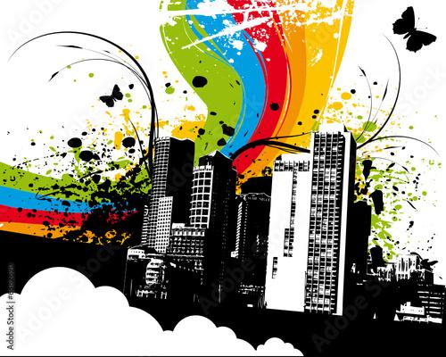 Grunge Rainbow City