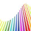 Halftone colorful vector