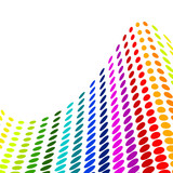 Halftone colorful vector poster