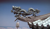 Dragon commonly found on asian roofs and temples poster