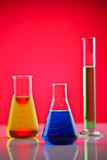 Chemicals in a laboratory poster