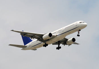 Modern passenger jet airplane